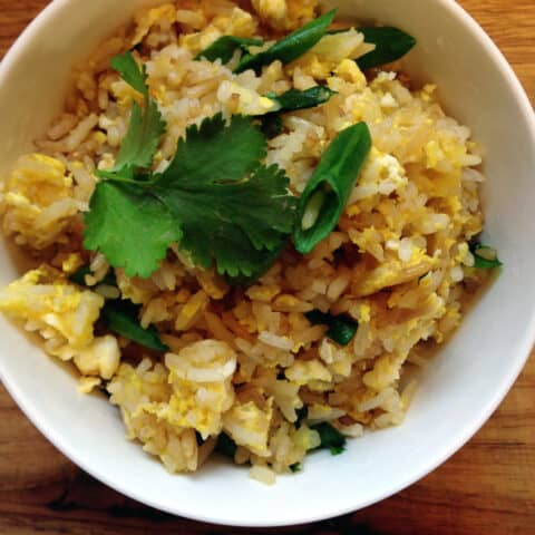 This easy Thai Fried Rice recipe is one of my favorite go-to meals on a busy weeknight.