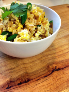 This easy Thai Fried Rice recipe is one of my favorite go-to meals on a busy weeknight. Use leftover rice and your favorite protein and veggie additions to make Thai rice like you like it.  Add this recipe to your best Thai rice recipes.