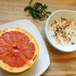Broiled Grapefruit with Toasted Coconut and Mint