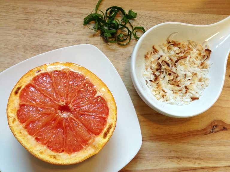 This Broiled Grapefruit recipe makes a light breakfast with an amazing combination of flavor.