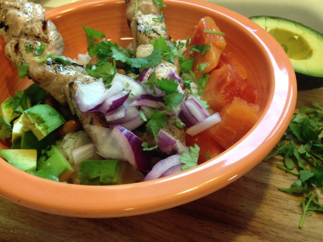 LATIN PORK KEBAB BOWL