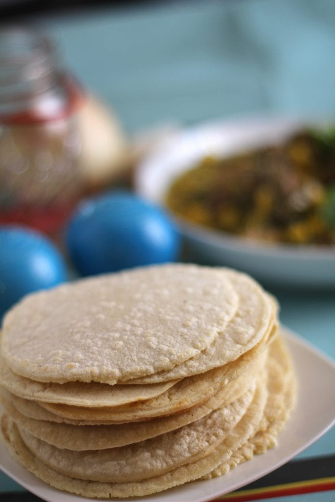 Easy Homemade Corn Tortillas Recipe. These homemade corn tortillas are so, so, so easy to make and the result is soft, warm, and full of incredible flavor! You just measure, stir, form a ball, cover it, let it rest for 30 minutes, press into tortillas, and fry.