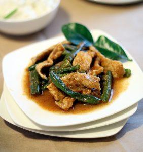 Thai Pork with Spicy Green Beans