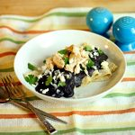 Smoky Black Bean Enfrijoladas