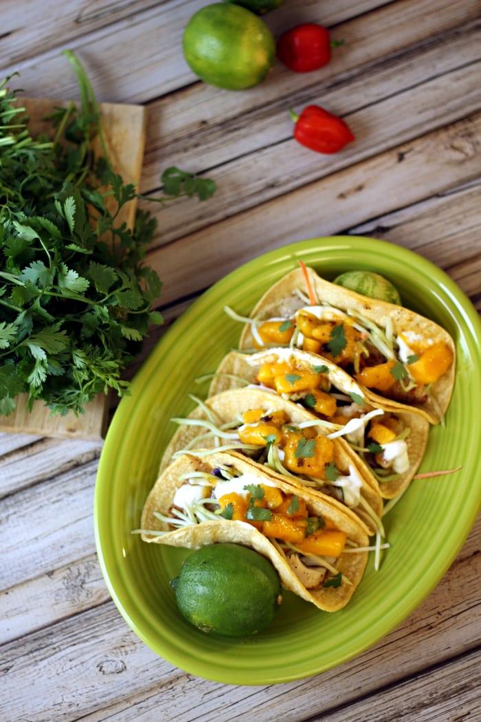 Skinny Baja Fish Tacos