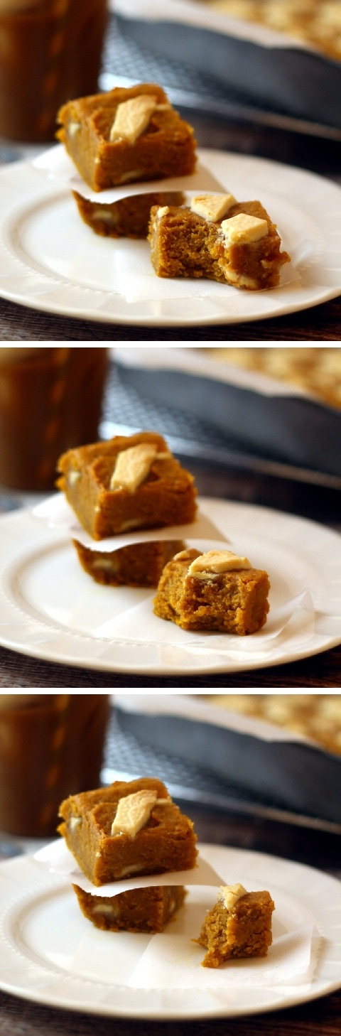 White Chocolate Pumpkin Butter Bars