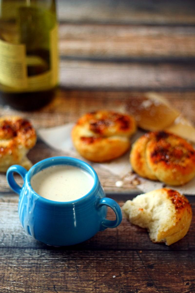Quick Crock Pot Fondue Recipe from The Wanderlust Kitchen