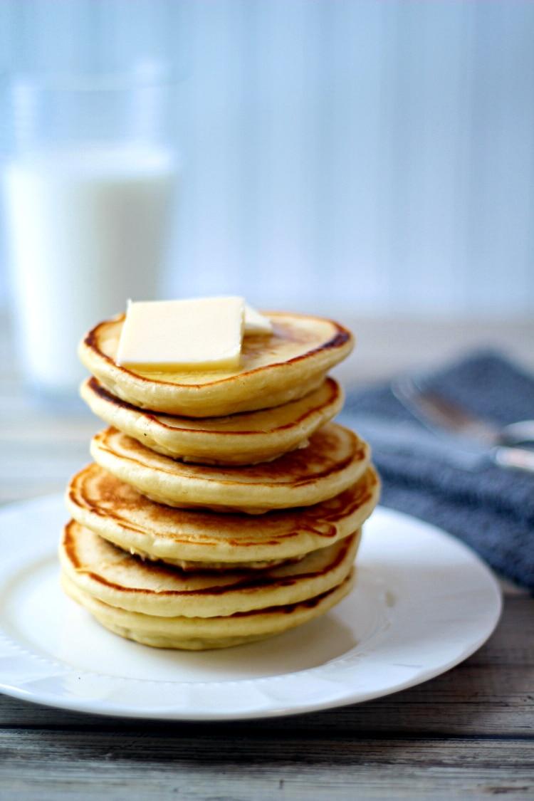 Carrot Cake Pancakes Using Cake Mix
