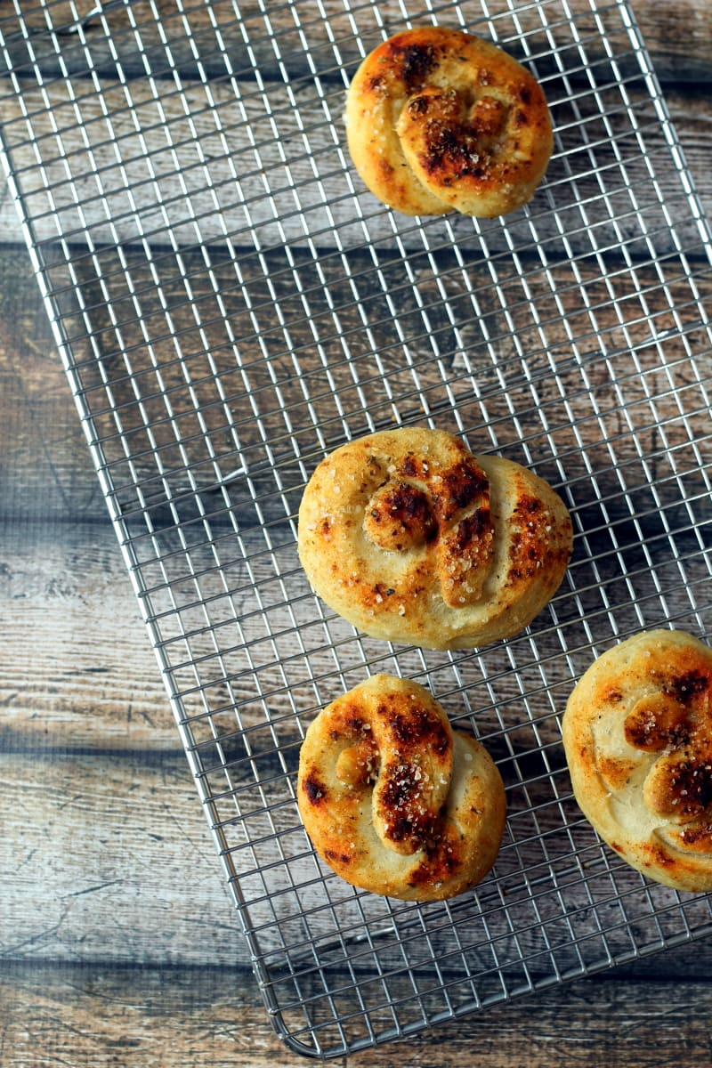 These Rustic Soft Pretzels are spiced with paprika and oregano, then topped with sea salt for that classic soft pretzel taste.