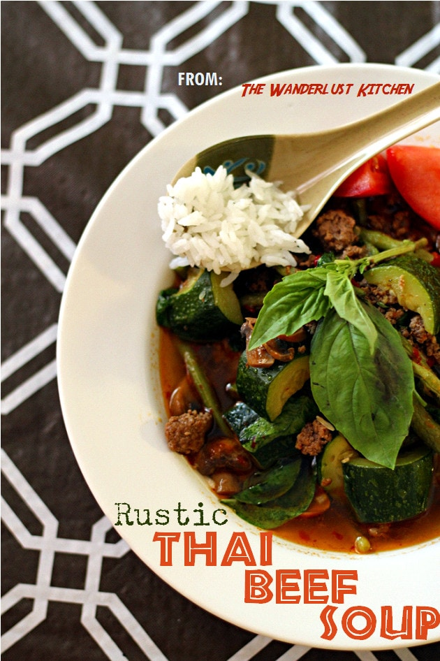 This Rustic Thai Beef Curry Soup recipe is amazing. It's full of nutritious vegetables, hearty ground beef, and a rich and flavorful broth. Plus, it's done in only a half hour!