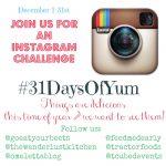#31DaysOfYum Instagram Challenge!