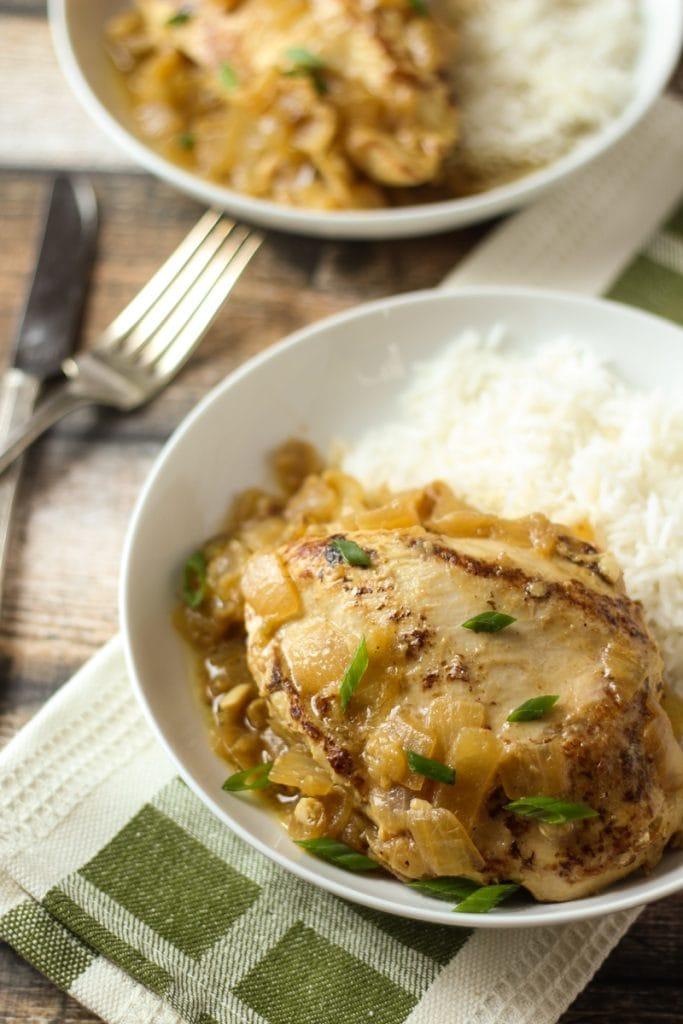 Yassa Poulet Recipe, also called Senegalese Chicken Recipe