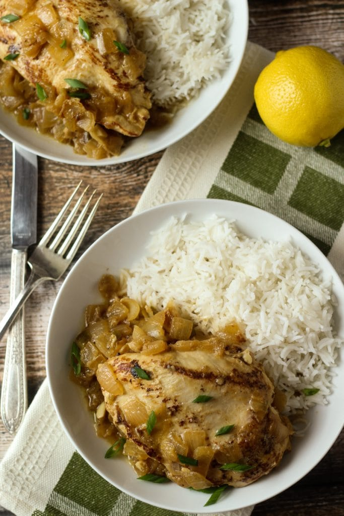 Poulet Yassa Recette, also called Senegalese Chicken Recipe