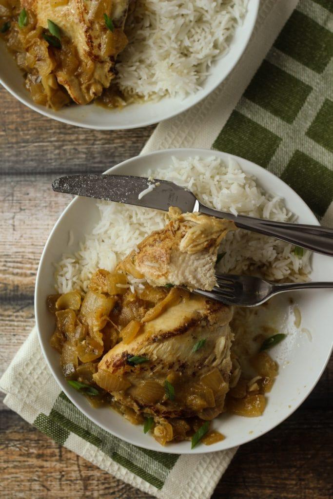 Poulet Yassa Senegal Recipe, also called Senegalese Chicken Recipe