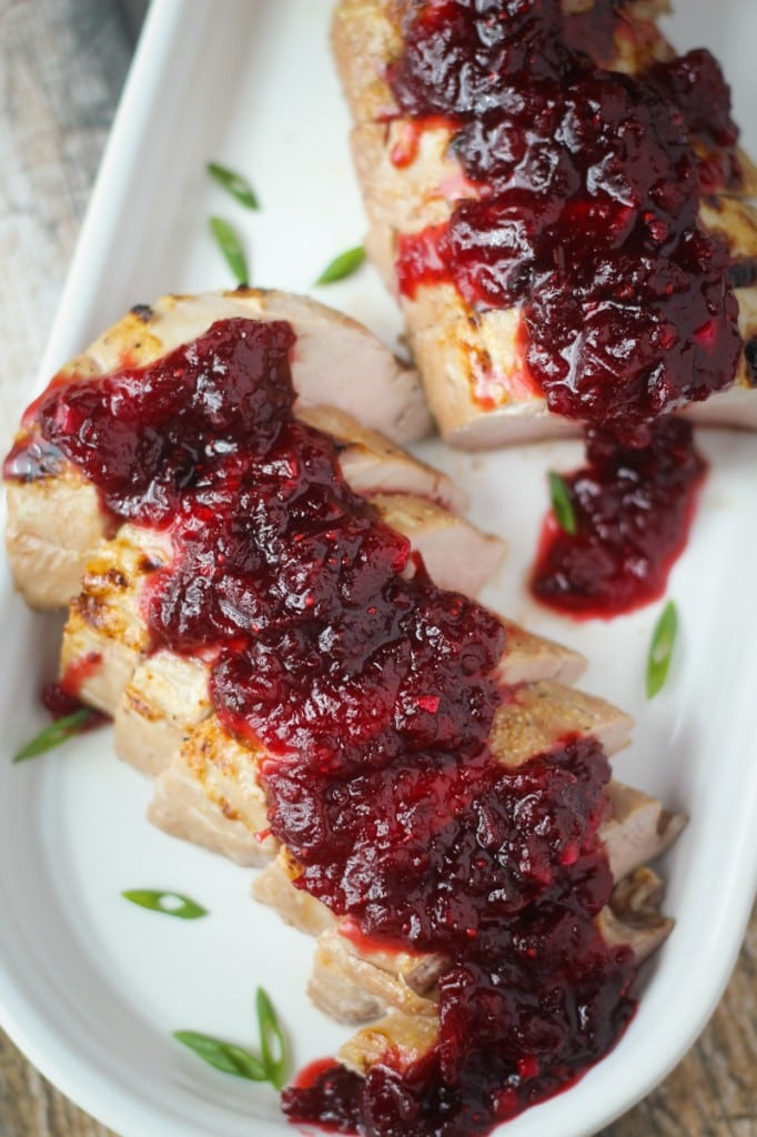 Pork Tenderloin with Chipotle-Cranberry Sauce