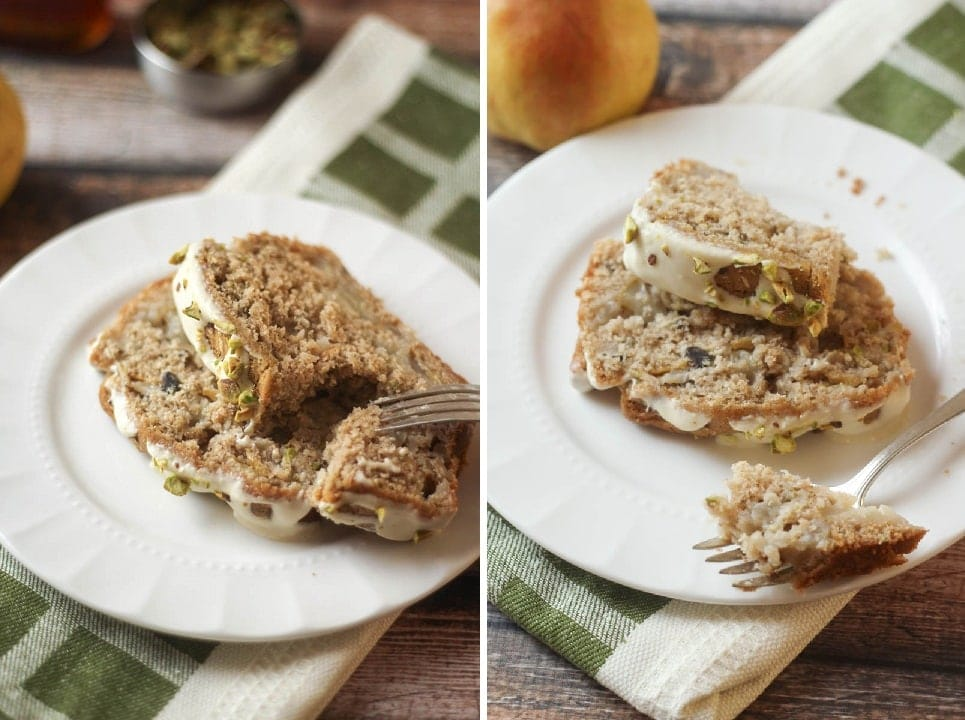 Spiced Pear and Pistachio Bread