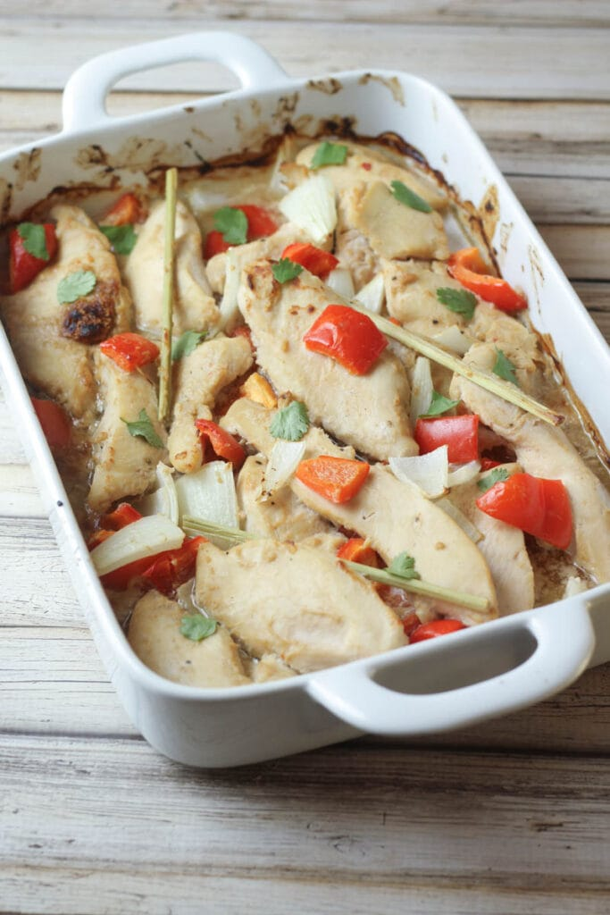 Thai Baked Peanut and Lemongrass Chicken