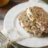 Spiced Pear & Pistachio Bread