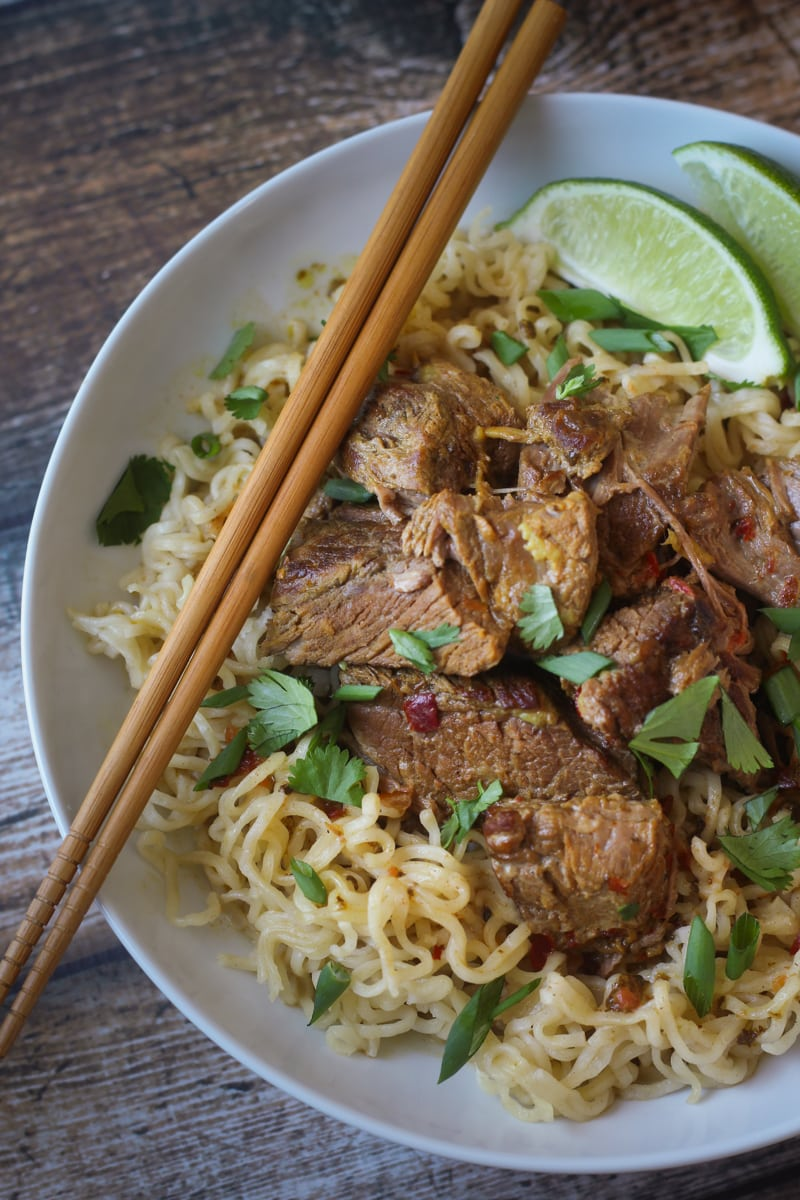 Crockpot Beef Curry With Noodles The Wanderlust Kitchen