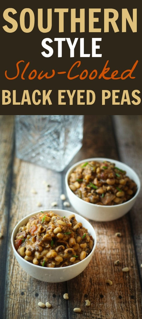 Traditional for New Year's Day (but delicious all year long!), Black Eyed Peas are creamy, comforting, and entirely crave-worthy! Make them easy with this black eyed peas crockpot recipe!