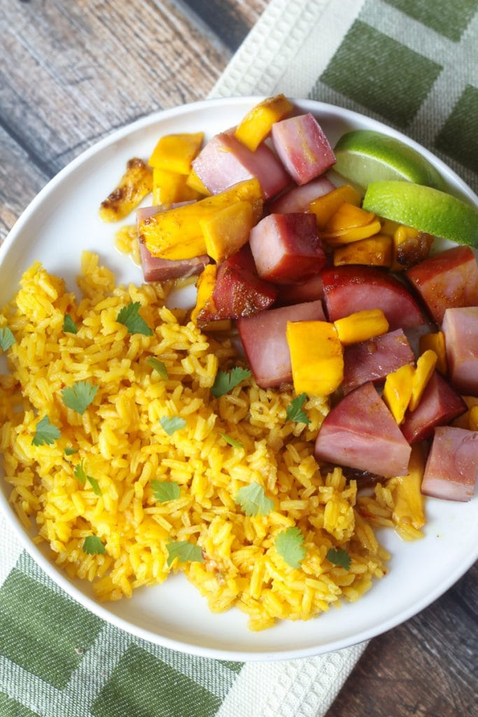 Curried Ham with Mangoes