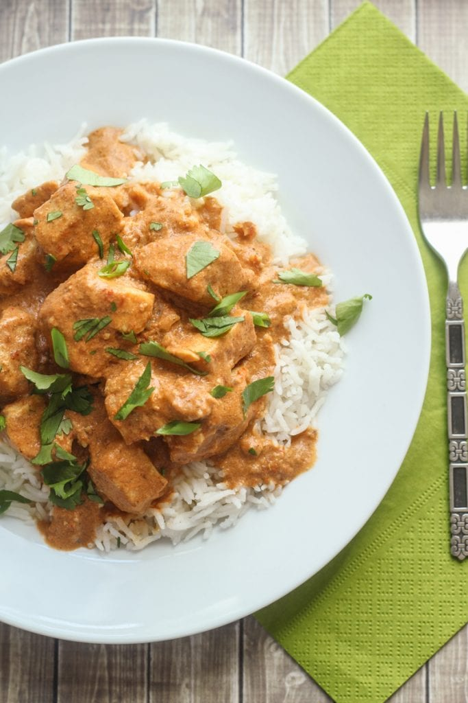 This Healthy Slow Cooker Tikka Masala recipe is delicious. It is a great healthy slow cooker curry!