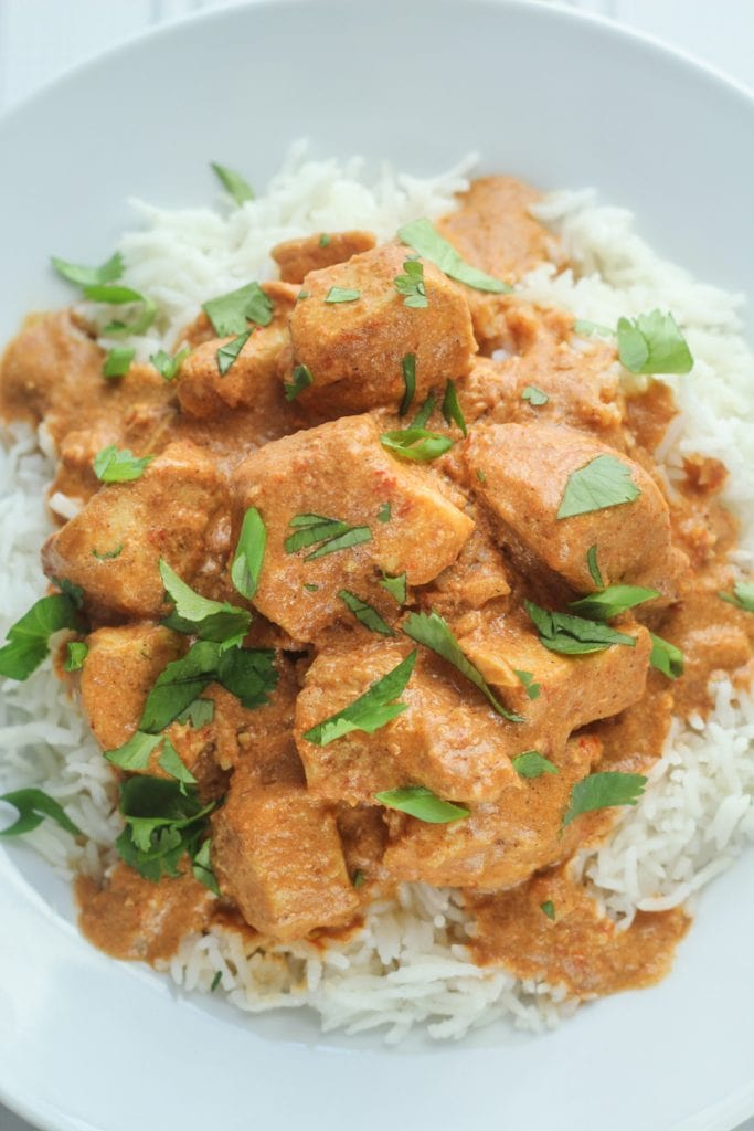 Healthy Slow Cooked Tikka Masala recipe or you can call it a healthy chicken curry slow cooker recipe or a healthy slow cooker chicken curry recipe. We call it delicious! Add this to your list of healthy slow cooker recipes!