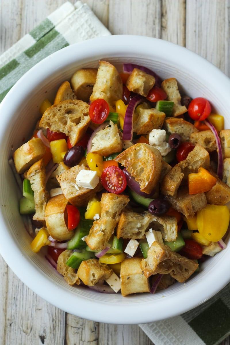 Greek Panzanella Salad Greek Panzanella Salad Fair Ina