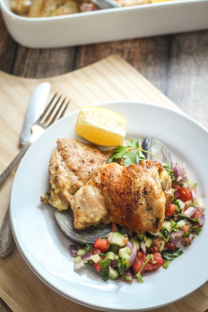 This easy to make Israeli Chicken Recipe makes a fragrant and succulent dinner with flavors from onion, garlic, rosemary and paprika.