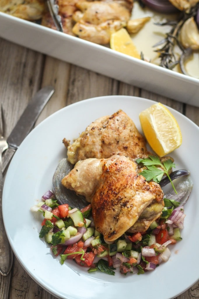 This easy to make Chicken Israel Recipe makes a fragrant and succulent dinner with flavors from onion, garlic, rosemary and paprika.