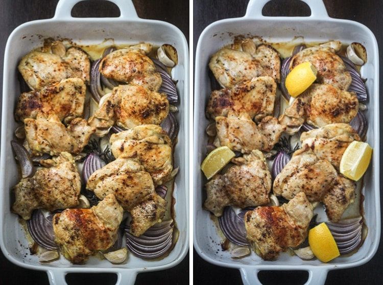 Searching for Israeli food recipes chicken? Here is a delicious one to try! This easy to make Israeli Chicken Recipe makes a fragrant and succulent dinner with flavors from onion, garlic, rosemary and paprika.