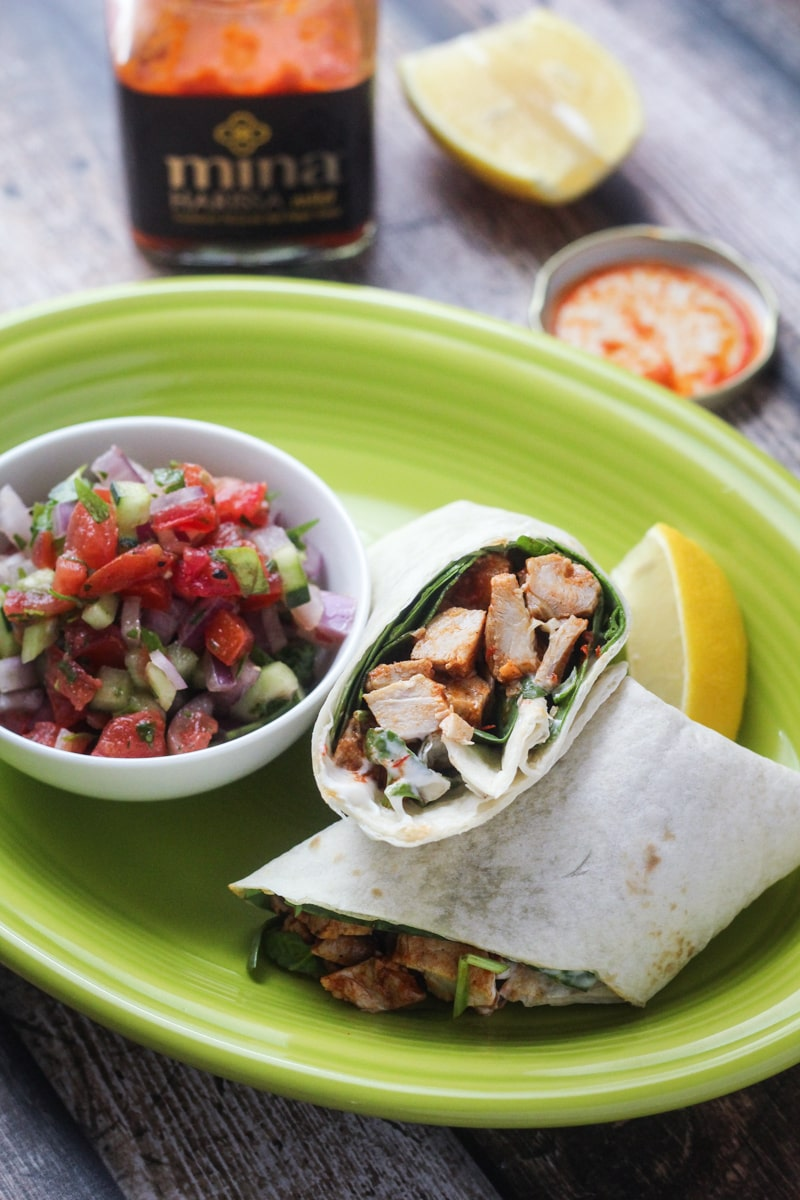 Healthy Moroccan Chicken Wrap - The Wanderlust Kitchen