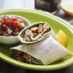 Healthy Moroccan Chicken Wrap