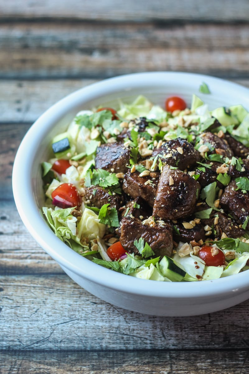 Skinny Vietnamese Steak Salad | thewanderlustkitchen.com