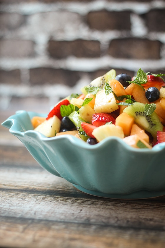 Best Ever Boozy Fruit Salad