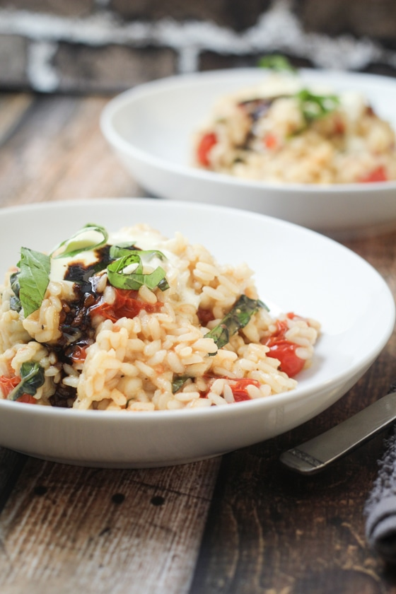 Burst Tomato and Basil Risotto