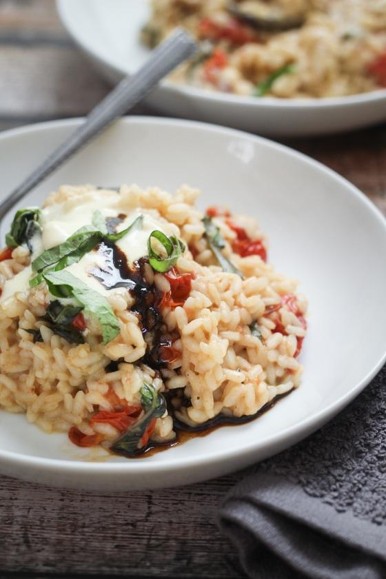 Burst Tomato and Basil Risotto