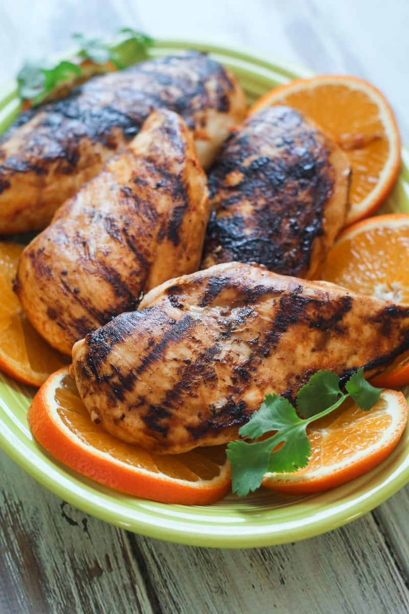 Grilled Citrus Marinated Mexican Chicken | thewanderlustkitchen.com
