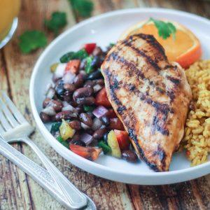 Grilled Citrus Marinated Mexican Chicken | thewanderlustkitchen.com