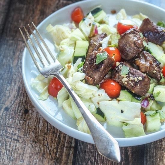 Skinny Vietnamese Steak Salad - The Wanderlust Kitchen