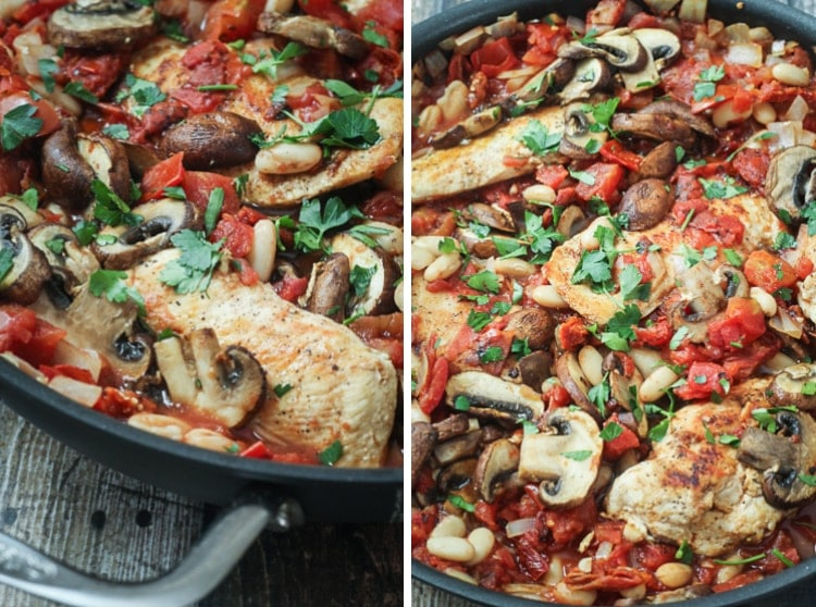 Healthy Tuscan Chicken Skillet Recipe - an easy one-pan meal the whole family will love!