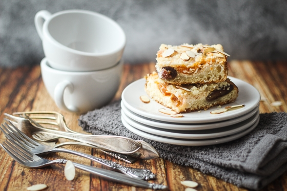 Apricot and Date Cream Cheese Coffee Cake
