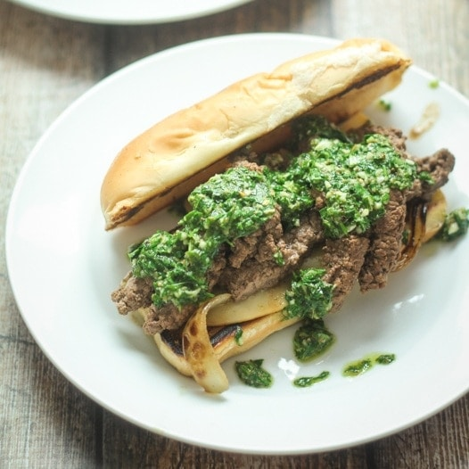 iron steak with chimichurri and fingerling potatoes grilled tender ...