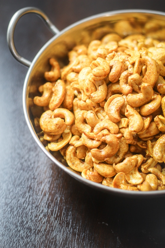 This Curry Cashews recipe is so easy to make and you are going to love the delicious, addictive flavor of this snack! It is a great party appetizer!