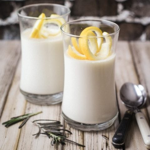 This Rosemary Lemon Panna Cotta recipe brings fragrant rosemary and vibrant lemon flavors together for an over the top taste!