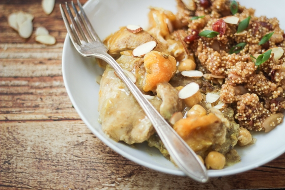 This delicious slow cooked apricot chicken recipe is infused with flavorful Moroccan spices and a hint of sweet apricots.