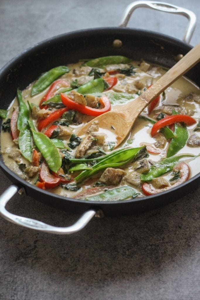 Thai Green Curry with Eggplant