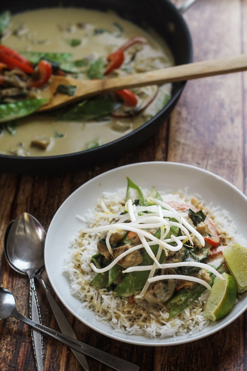 Thai Green Curry with Eggplant - The Wanderlust Kitchen