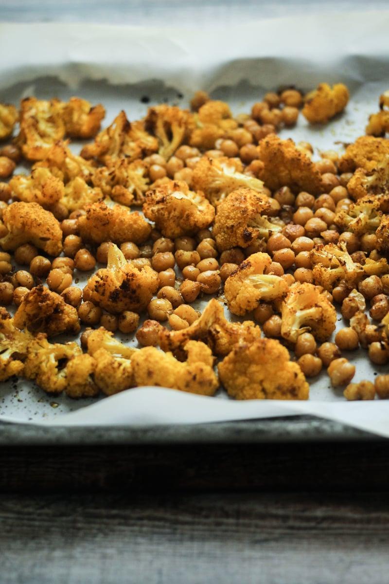 Vindaloo Roasted Cauliflower and Chickpeas