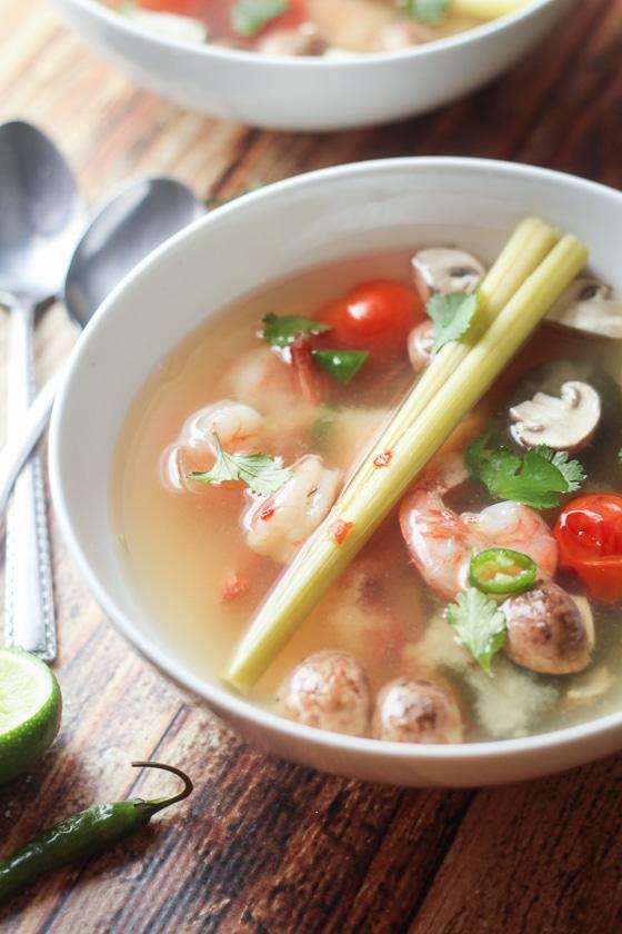 Thai tom yum soup with shrimp the wanderlust kitchen recipe image forumfinder Choice Image
